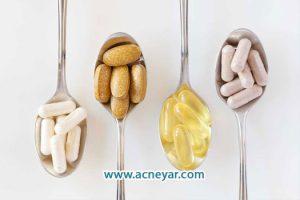 استفاده از داروهای مکمل و چربی زیاد پوست