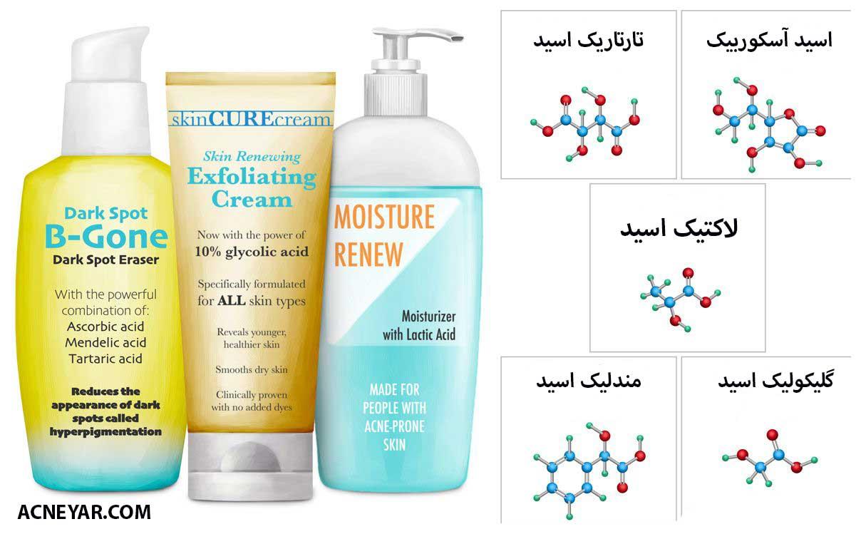 آلفا هیدروکسی اسید و درمان جوش صورت و بدن