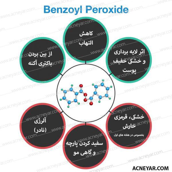 بنزوئیل پروکساید و لایه برداری در درمان آکنه جوش