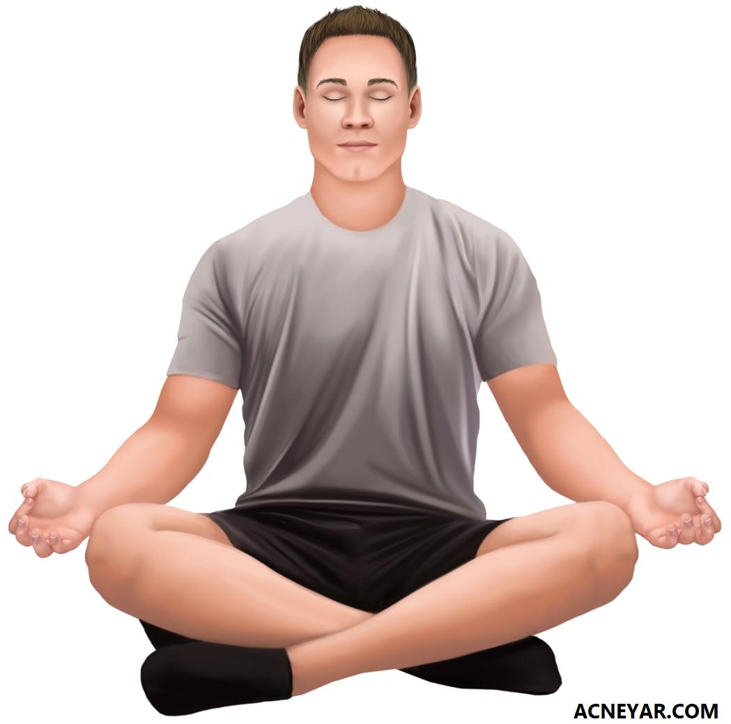 نقش مراقبه و یوگا در کاهش استرس و ایجاد جوش