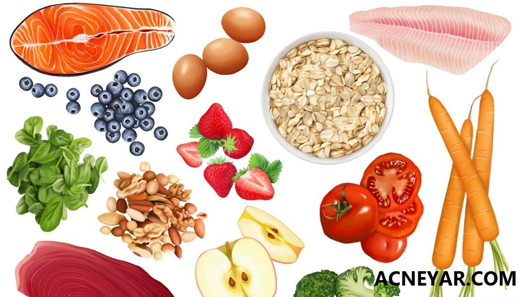 رژیم غذایی سالم در از بین بردن آکنه