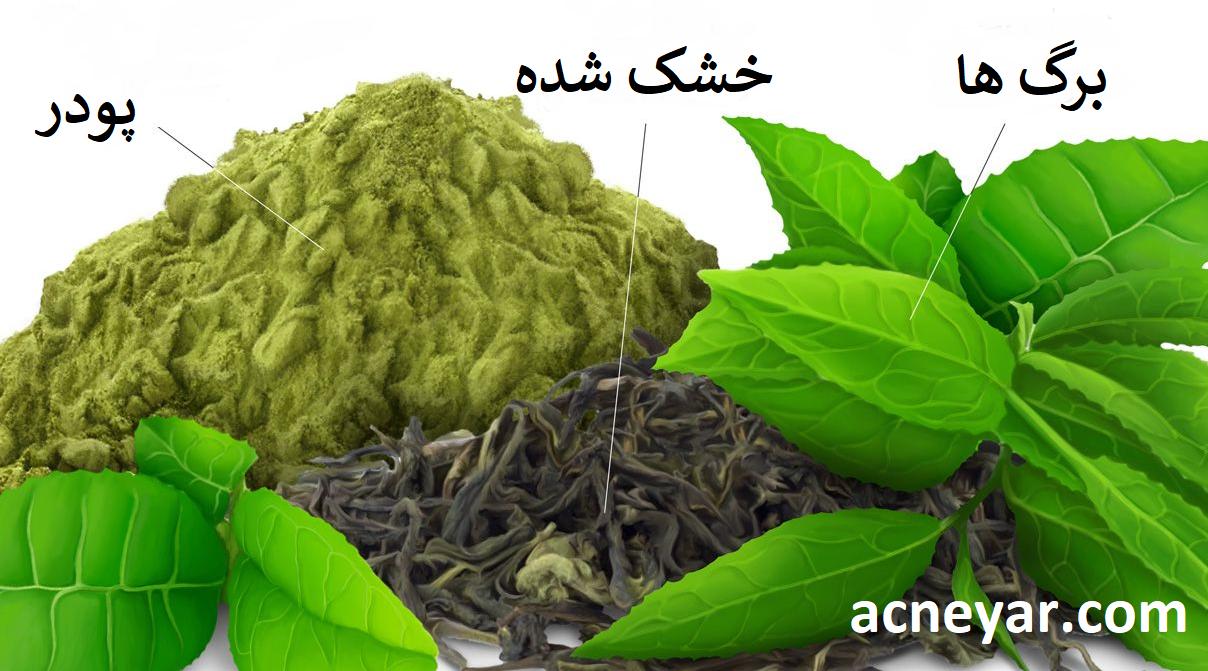 چای سبز برای درمان جوش